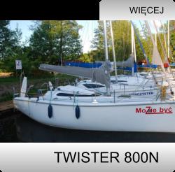 twister-800n, czartery na Mazurach, Jacht Mazury